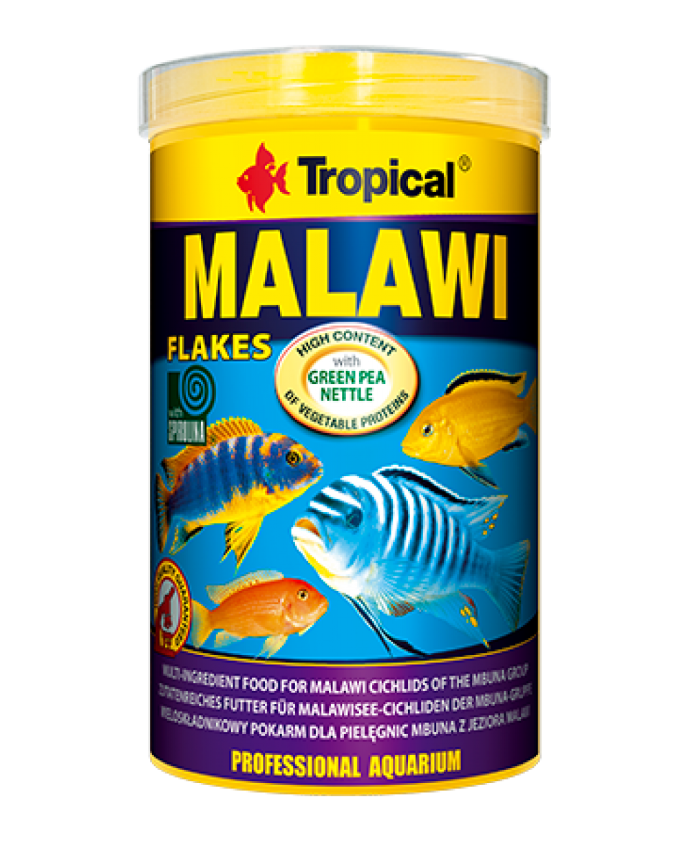Tropical malawi flakes comida para peces malawi tropican for Comida para peces