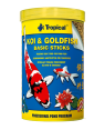 Tropical Koi goldfish basic stick alimento koi