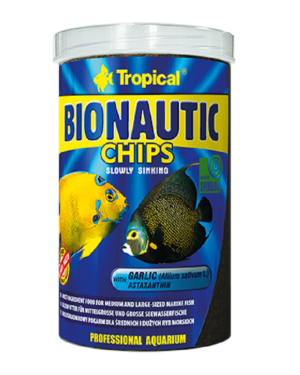 Tropical Bionautic chips alimento para peces marinos