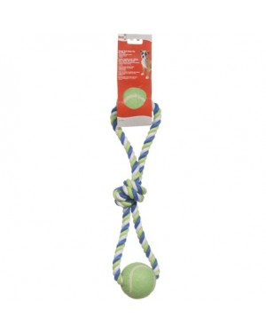 Dogit cuerda algodón multicolor con pelota