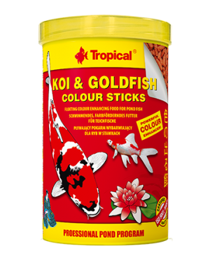 Tropical Koi goldfish color stick alimento koi