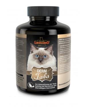 Suplemento dietético para la salud de la piel y pelo de los gatos, Leonardo Derm Tab