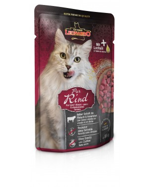 Comida húmeda de alta calidad para gatos Leonardo Pura ternera