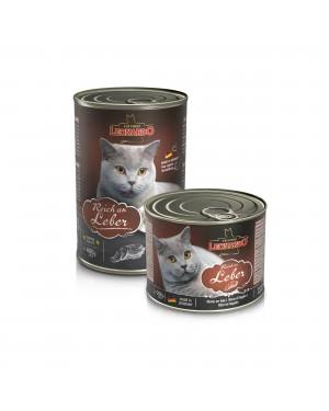 Comida húmeda en lata para gatos Leonardo Puro Higado