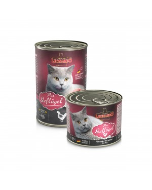 Comida húmeda en lata para gatos Leonardo Puro Pollo