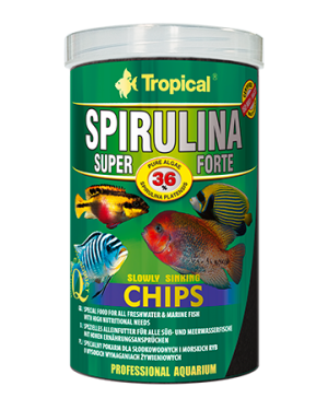 Tropical Super spirulina forte chips vegetal