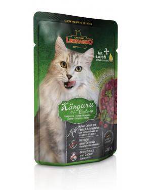 Comida húmeda de alta calidad para gatos Leonardo Canguro + Catnip