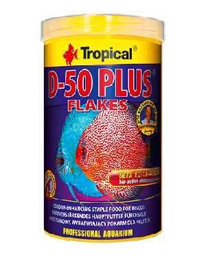 Tropical D-50 Plus alimento en escamas para discos