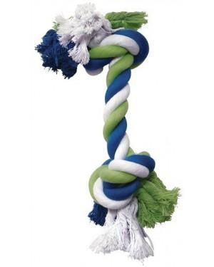 Dogit cuerda de algodón  azul/lima/blanco