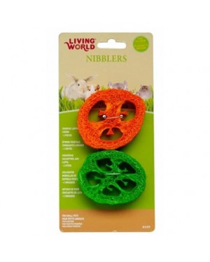 Rodajas de esponja Living world nibblers