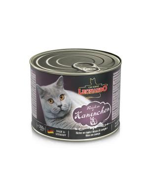 Comida húmeda en lata para gatos Leonardo Conejo
