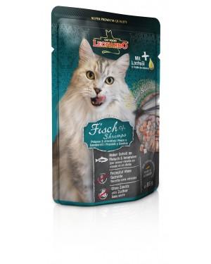 Comida húmeda de alta calidad para gatos Leonardo Pescado y Gambas