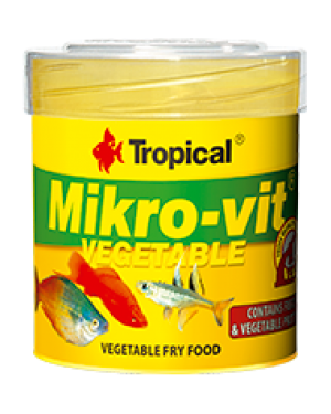 Tropical Mikrovit vegetable dieta para alevines