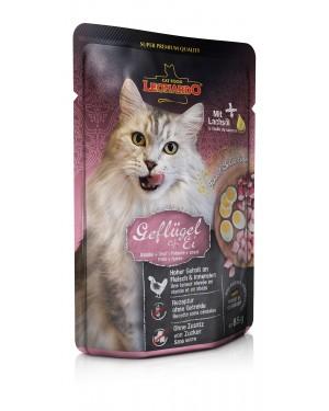Comida húmeda de alta calidad para gatos Leonardo Pollo + Huevo