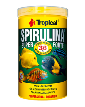 Tropical Super spirulina forte 36% escama peces