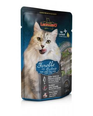 Comida húmeda de alta calidad para gatos Leonardo Trucha + Catnip