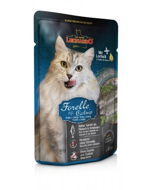 Leonardo Trucha + Catnip comida húmeda gatos
